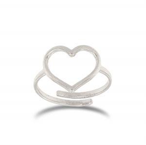 Anello cuore a filo regolabile - grandezza variabile