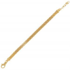 Bracciale fope da 6 mm - placcato oro