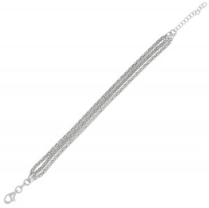 Three fope chains bracelet - 3 mm