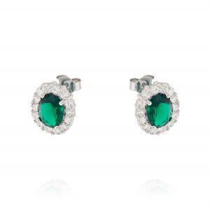 Orecchini Royal ovali – pietra verde