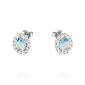 Orecchini Royal ovali – pietra azzurra