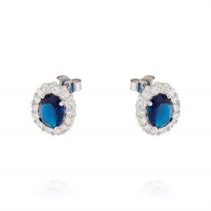 Orecchini Royal ovali – pietra blu