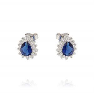 Orecchini Royal a goccia – pietra blu