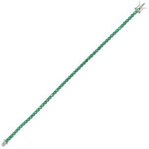 Green cubic zirconia tennis bracelet - 3 mm