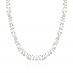 Long necklace with glossy pendant stars