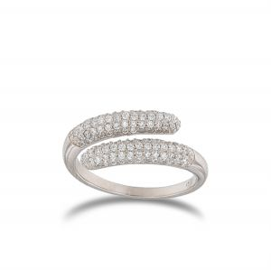 Contrariè ring with white cubic zirconia