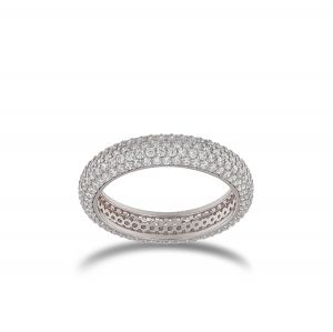 Ring with white cubic zirconia