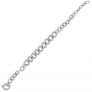 Bracelet with rolò and groumette chains
