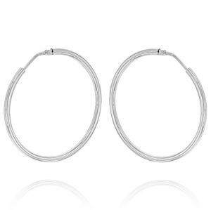 2 mm thick hoop earrings - 60 mm