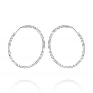 2 mm thick hoop earrings - 50 mm