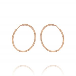 2 mm thick hoop earrings - 40 mm - rosé plated