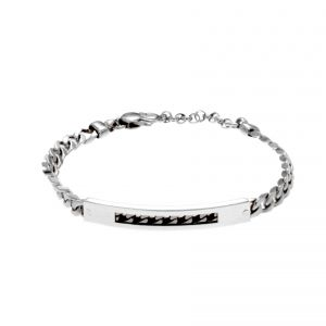 Curb chain bracelet with pierced plate