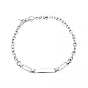 Bracelet with three glossy plate
