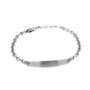 Bracelet with central satin-finish plate