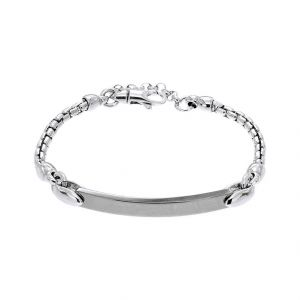 Bracelet with ruthenium plated plate