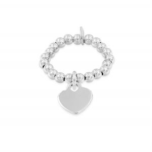 Elastic ring with small heart