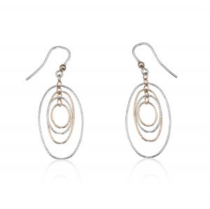 Ovals earrings with diamond cut - color variable