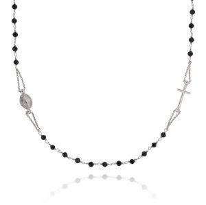 Collana rosario D&G con pietre nere
