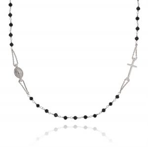 D&G rosary necklace with black stones