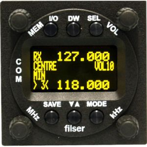 ATR833-2K Transceiver 8,33kHz, 57mm housing - VOX-operated Intercom, 6W, OLED Display