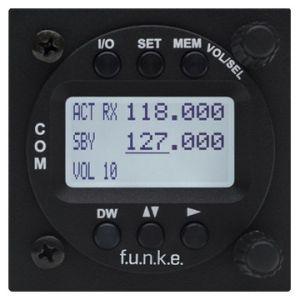 ATR833-LCD VHF Transceiver 8,33kHz, 57mm housing - VOX-operated Intercom, 6W, LCD Display