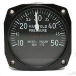 Indicatore MAP Falcon Gauge - 50 Hg - Diam. 80 mm