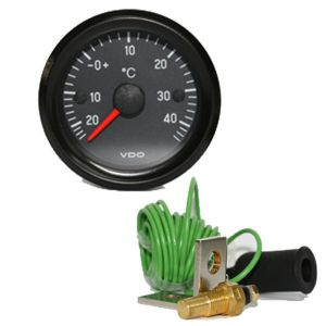 Indicatore temp. analogico -20+60° Air Box + sonda VDO Diam. 52mm