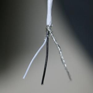 Cavo aeronautico schermato teflon - 2 poli + calza