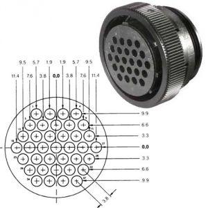 Connettore circolare AMP CPC - 37 poli - Femmina