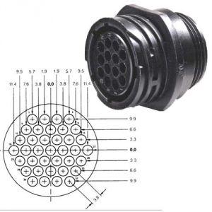 Connettore circolare AMP CPC - 37 poli - Maschio