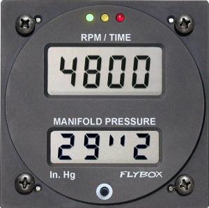 Contagiri- Map -Fly Box - Diam. 80 mm per Rotax 912/914
