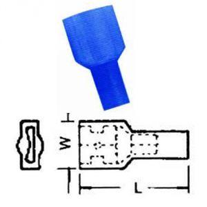 Faston 7,5 isolato BLU - femmina