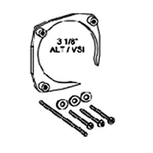 Staffa NUT RING per montaggio strumenti diam. 80mm con asola - MK-02