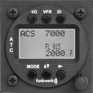 TRT800H-LCD Transponder Mode A/C/S, class 1, 57mm housing, LCD display
