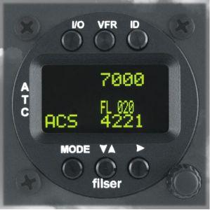 TRT800H-OLED Transponder Mode A/C/S, class 1, 57mm housing, OLED display